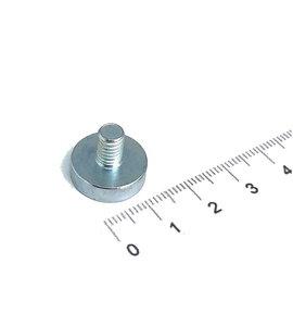 neodymium potmagneet 16 mm met draadstift m6