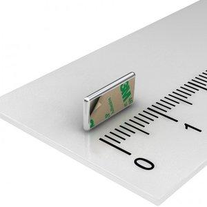 Blokmagneet zelfklevend neodymium 10x5x1 mm