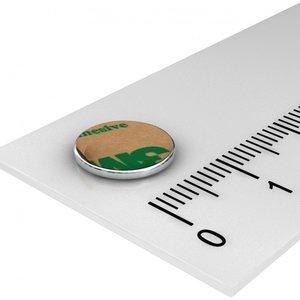 zelfklevende magneet 10x1 mm neodymium