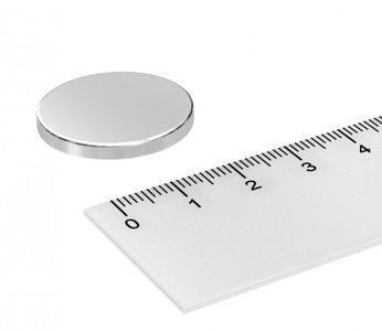 25x3 mm neodymium schijfmagneet