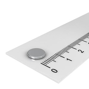 8x1 mm neodymium schijfmagneet