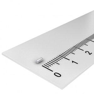 blokmagneet neodymium 3x1x1 mm N45