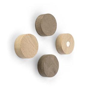 houten magneten rond neodymium