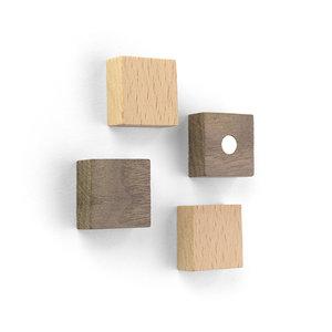 vierkant magneten van hout