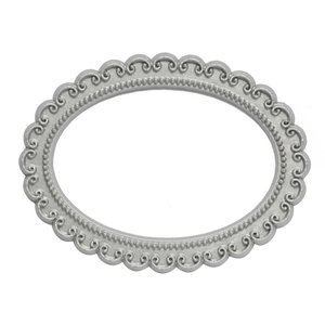 ovaal zilver magnetisch fotoframe