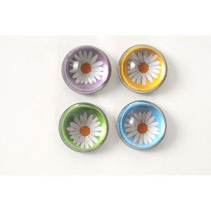 Bloemen magneten glas